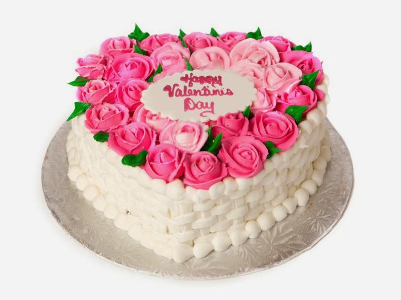 Valentine's Day Flower Cake