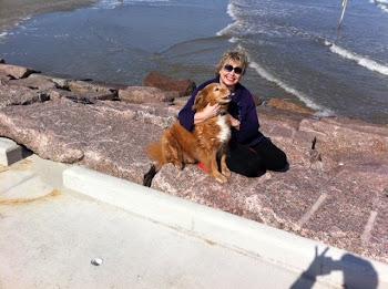 BONNIE AND MAX AT GALVESTON BEACH 030611