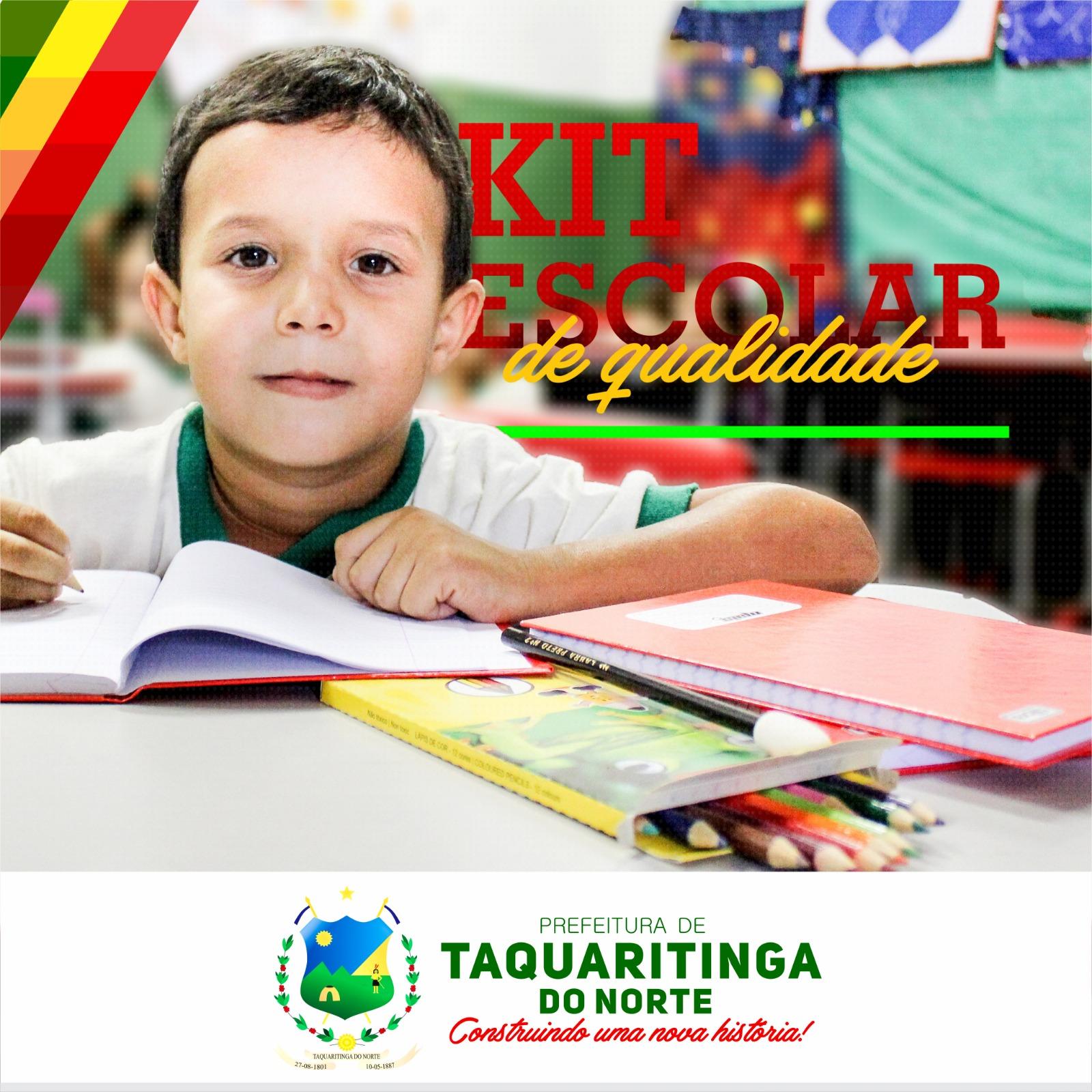distribuição de kits escolares