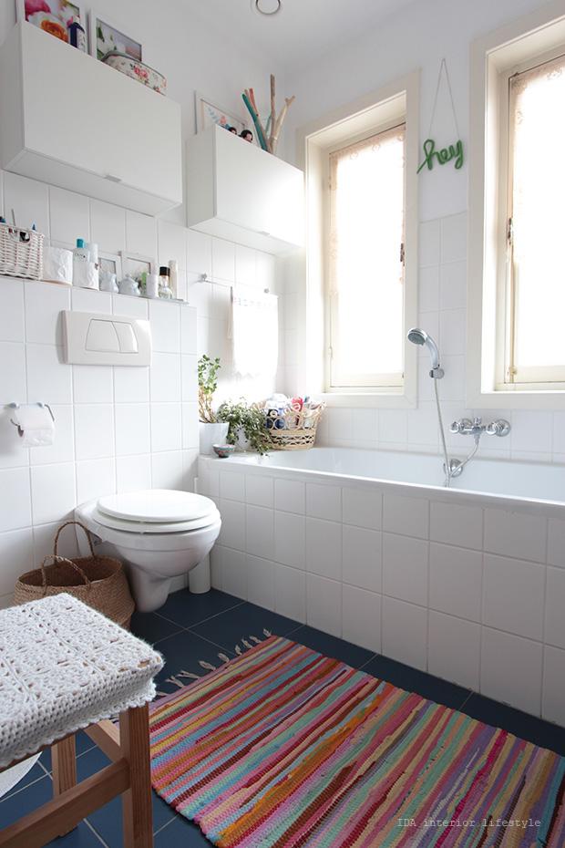 Antes y despu s de un peque o ba o la garbatella blog - Como decorar un bano antiguo sin obra ...