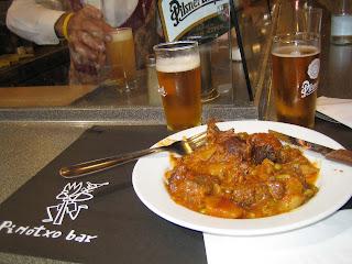 Estofado and cana at Pinotxo Bar