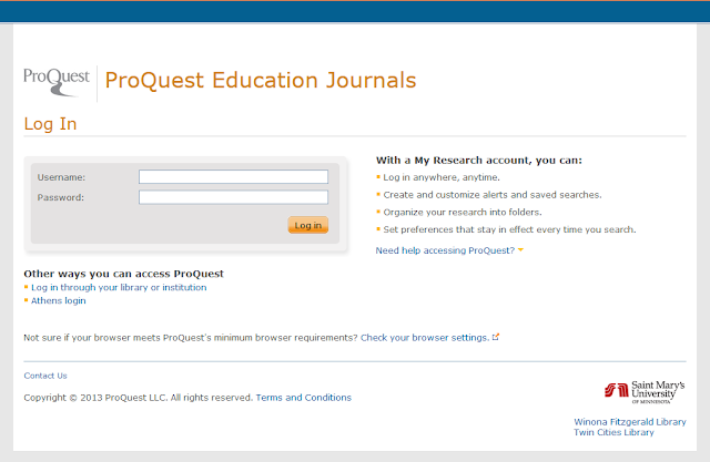 ProQuest Error