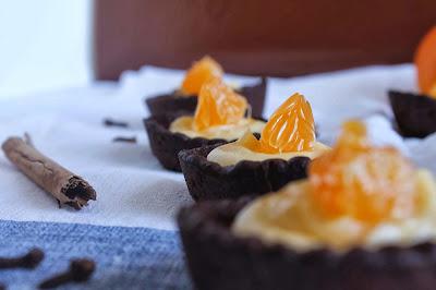 Tartaleta de chocolate con crema de mandarina - o mandarin curd