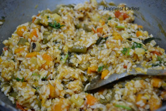 Steps of Vegetable Poha