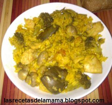 Las recetas de la mam receta de arroz con pollo y verduras - Arroz con verduras light ...