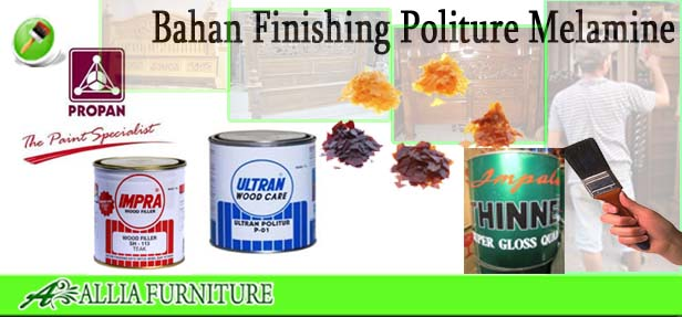Bahan Proses Finishing Politur Melamine