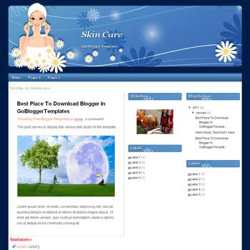 Skin Care blogger template. blogger template from wordpress theme. girly blogger template