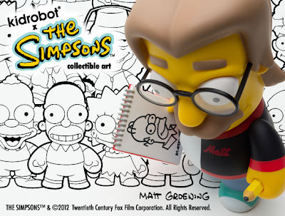Kidrobot - The Simpsons x Kidrobot Matt Groening 6 Inch Vinyl Figure