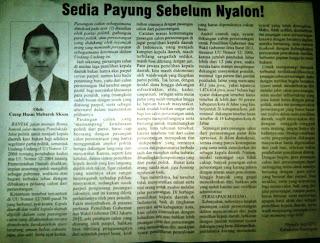 artikel Cecep Husni Mubarok di koran Rakyat Cirebon