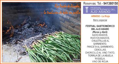 Festival Gastronómico del Ajo Asado de Arnedo, de Marzo y Abril