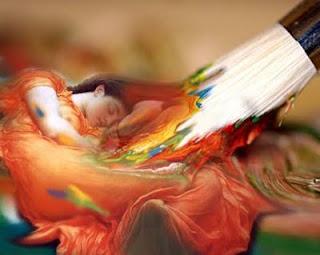 sztuka, malarstwo, pędzel