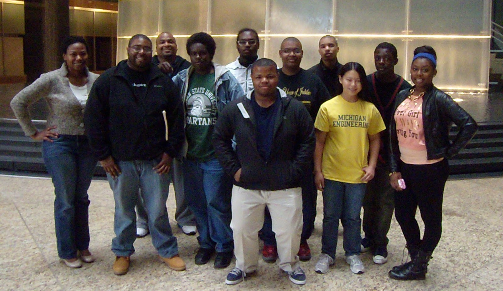 1st row (L-R): Tonji Zimmerman (Coordinator/Trainer), Richard Session (Trainer), Cortez Christian, Bradley Wise, Elizabeth Ho, Desiree Taylor 2nd row (L-R): Anthony Garrett-Leverett (Coordinator/Trainer), Charles McIntosh II, Thomas Graves, Joseph Sigmon, Cameron Campbell Students not in photo: Cameron Hughes, Howard Smith
