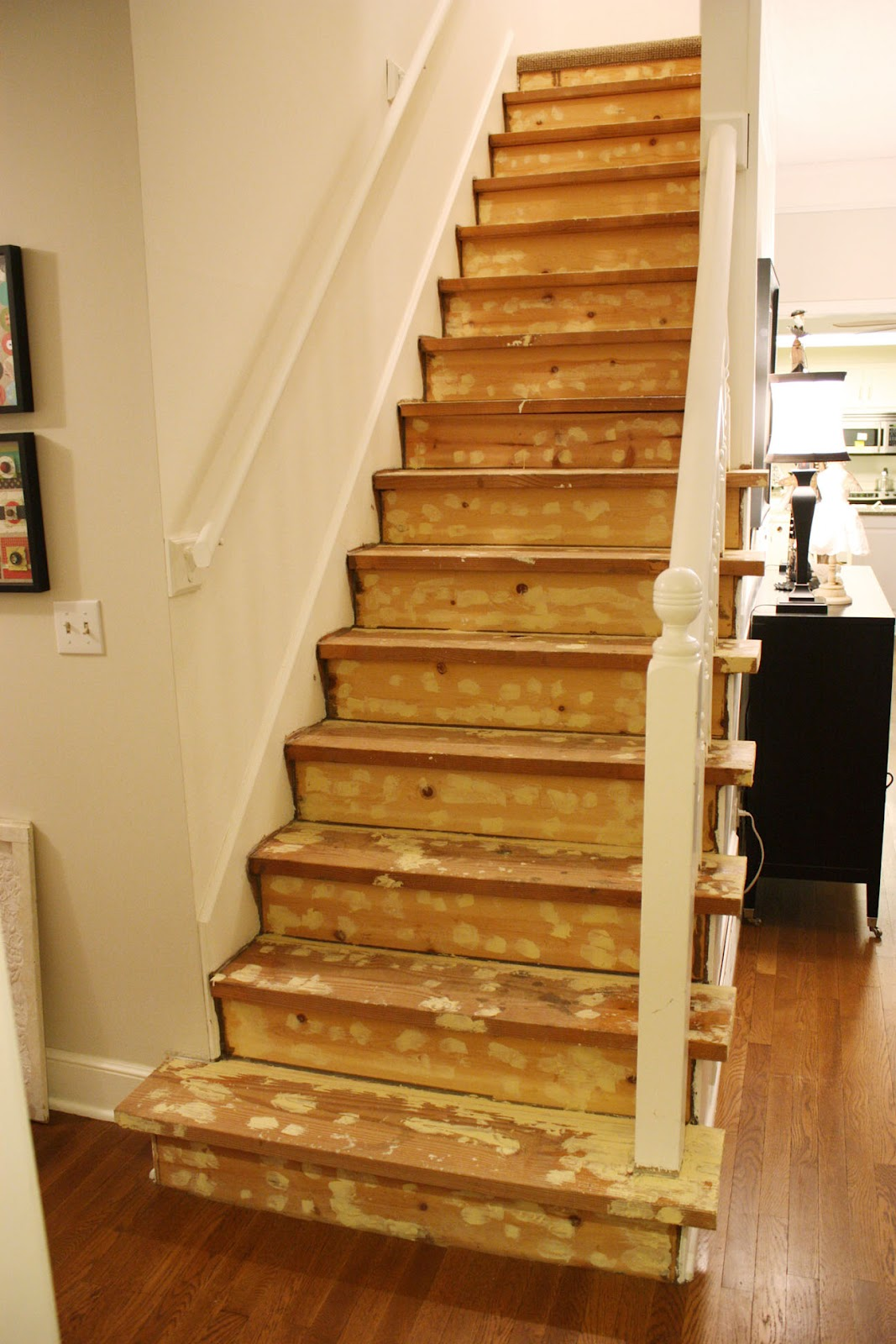 Painted stairs project valerie pillow - Painted stairs ideas pictures ...