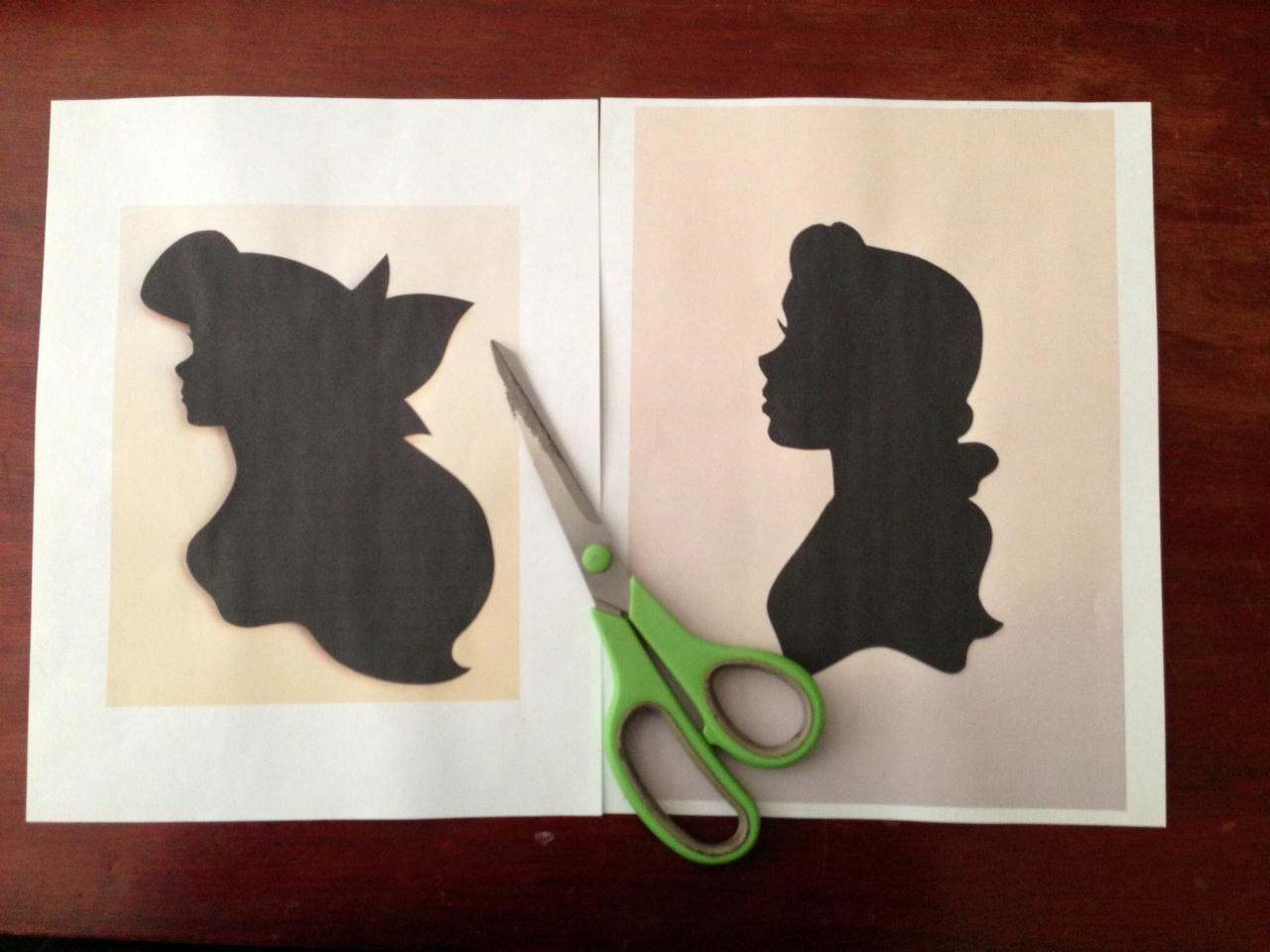 home with the Ayres: Disney Princess Silhouettes