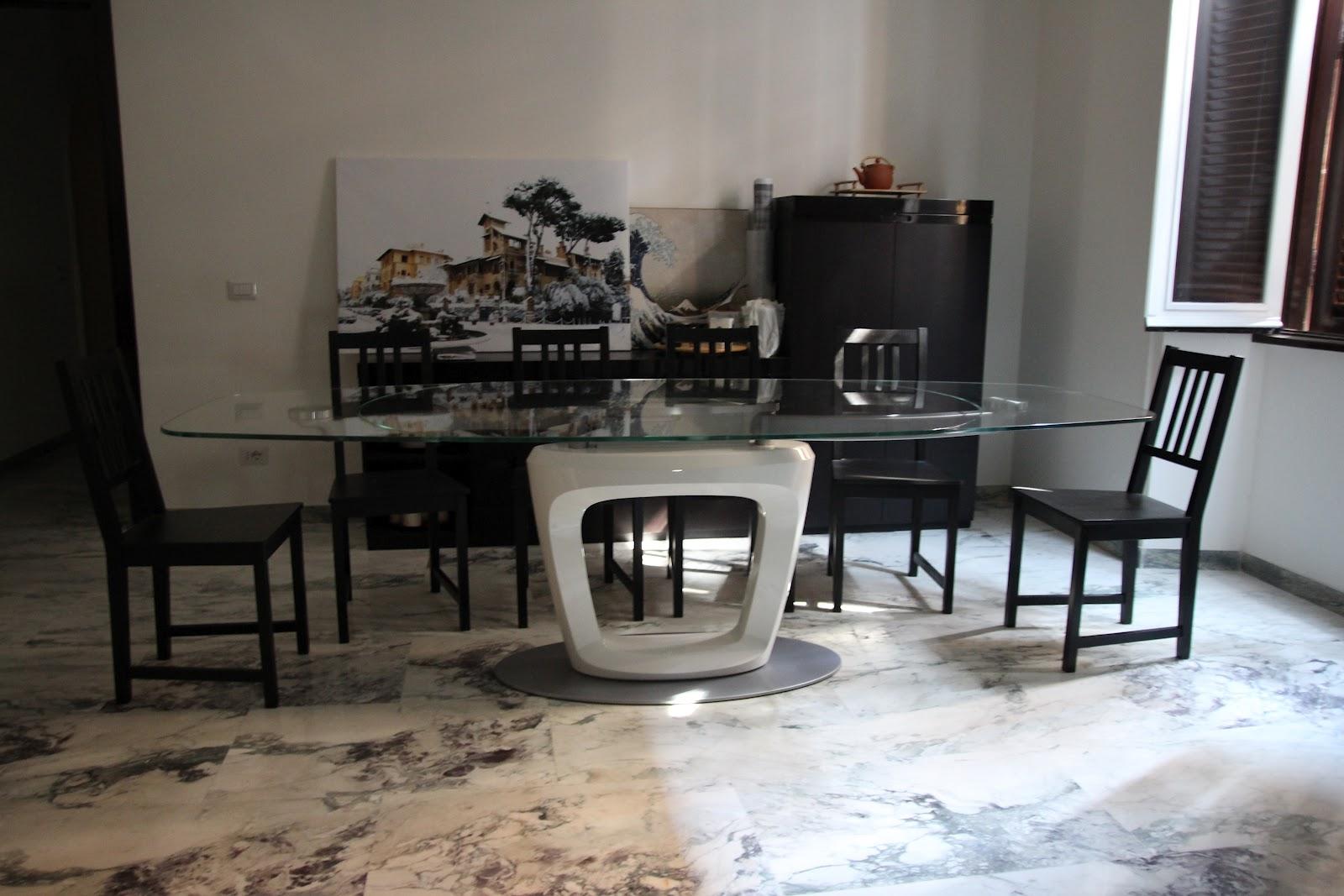 Tavolo cristallo allungabile calligaris cb gate tavolo allungabile in metallo con piano in - Tavoli in cristallo calligaris ...