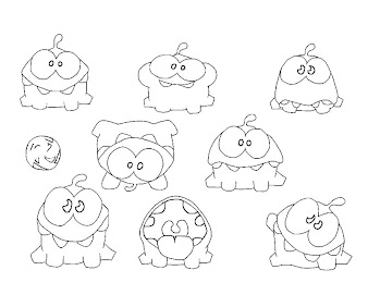 #5 Cut The Rope Coloring Page