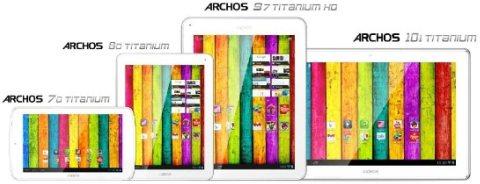 Nuova linea di tablet con sistema operativo android jelly bean per Archos nel 2013