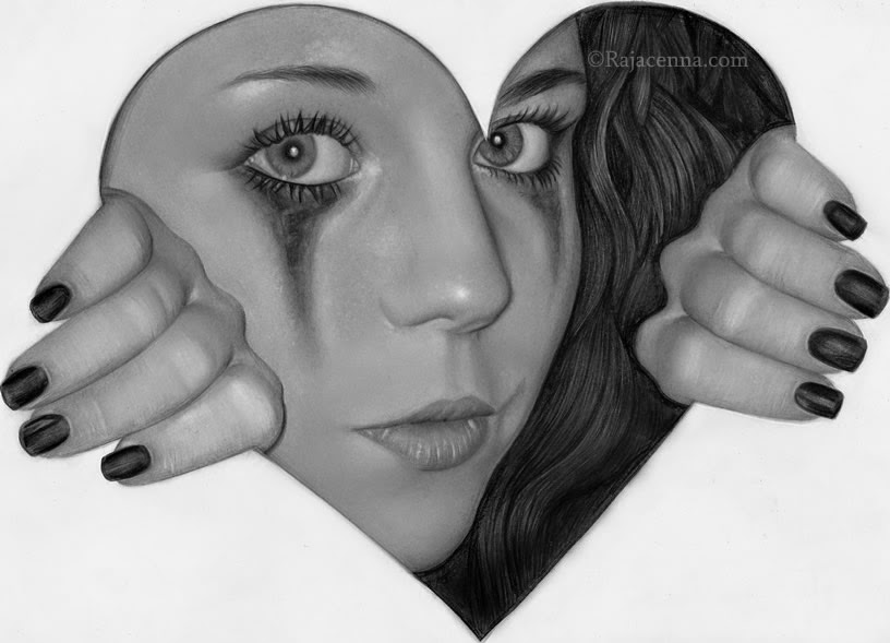 19-Trying-to-love-myself-Rajacenna-Photo-Realistic-drawings-from-a-novice-Artist-www-designstack-co