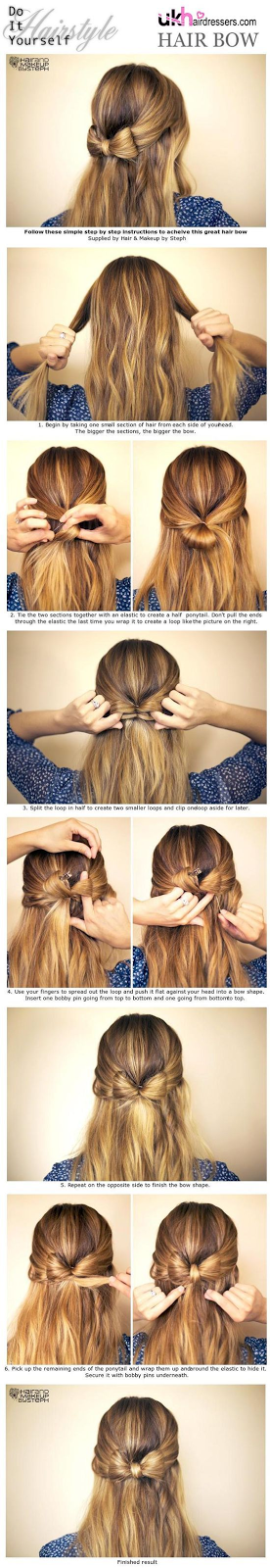 Hairstyle Tutorial: Easy DIY Hair Bow Tutorial