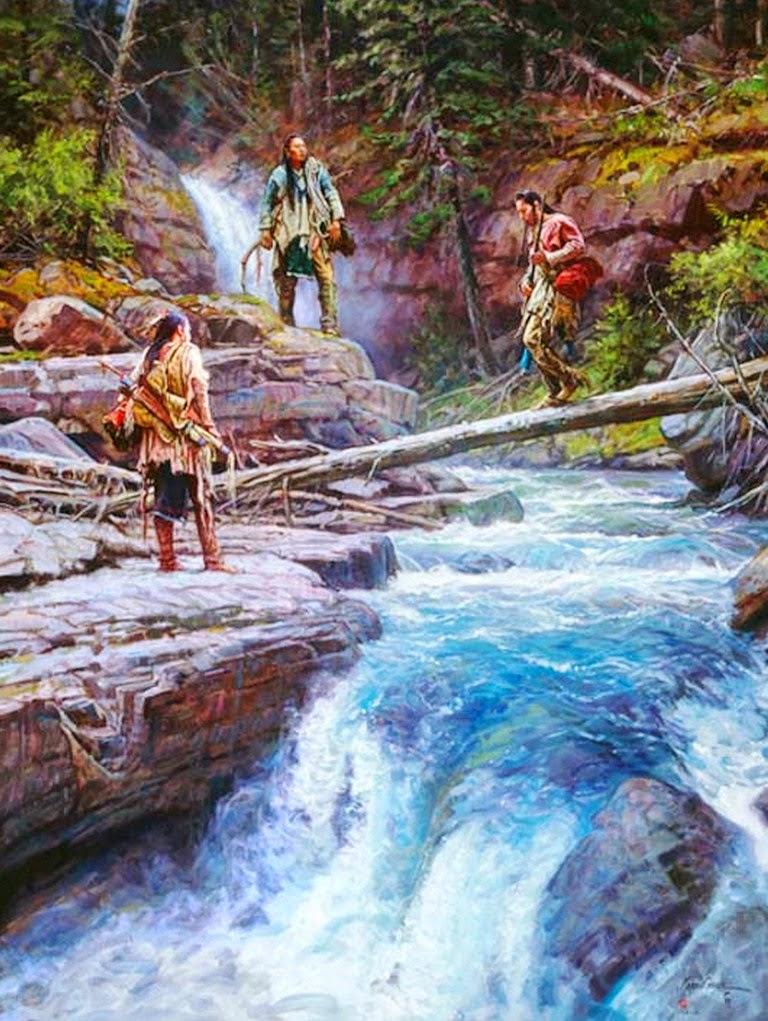 paisajes-con-indios-y-caballos-pintados-al-oleo