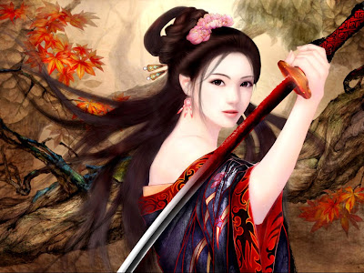 Beautiful Warrior Girl fantasy Wallpaper