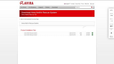 Avira AntiVir Rescue System, Recovery