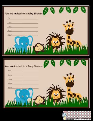Lindo Kit de la Selva para Baby Shower, para Imprimir Gratis.   Oh My Bebé!