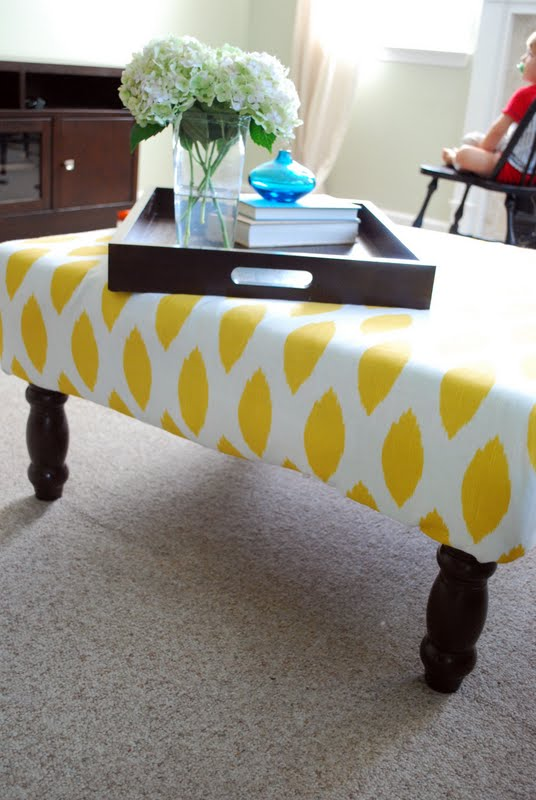 Tulip And Turnip Diy Upholstered Ottoman Coffee Table