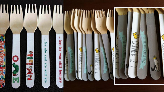 Sugar Coated Studio giveaway custom wooden utensils The Very Hungry Catepillar/Where The Wild Things Are