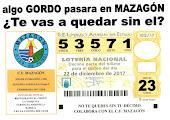 LOTERÍA DE NAVIDAD DEL MAZAGÓN C.F.