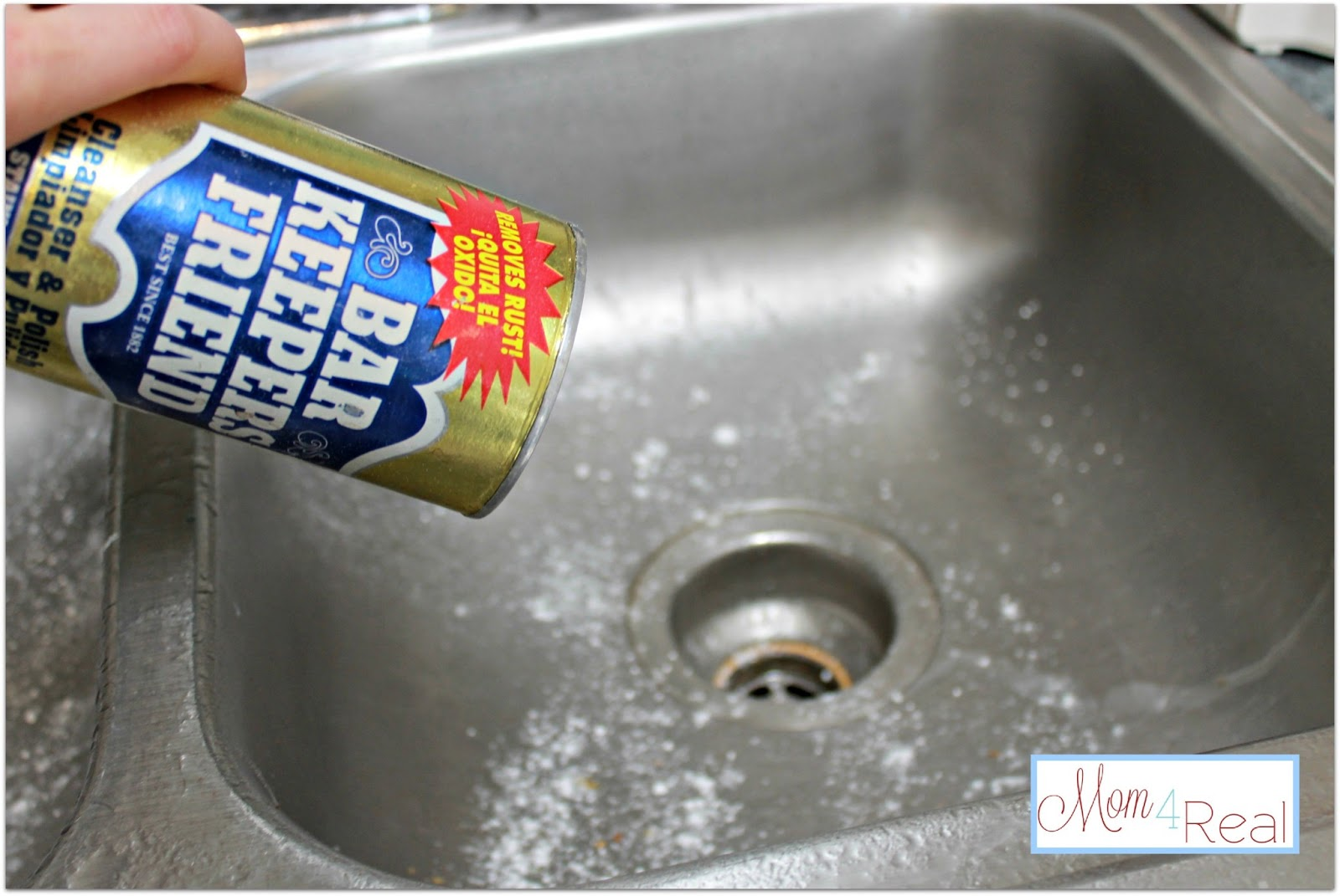 how do you clean a stainless steel kitchen sink