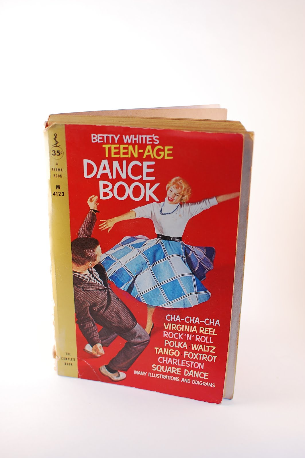 Thingummery Paperback Of The Week Betty Whites Teen Age Dance Book Foxtrot Steps Diagram