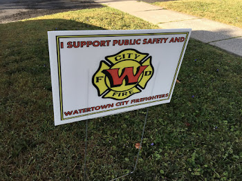 Several  Firefighter Signs Noticed Around City