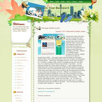 Ottawa in Your Backpack blogger template