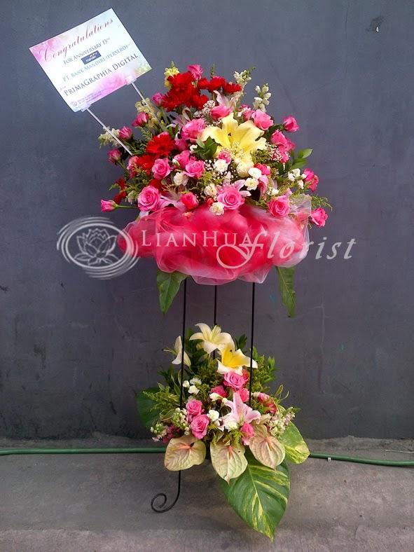 standing flowers, bunga peresmian toko, bunga ucapan selamat, toko bunga, karangan bunga papan, toko bunga jakarta utara