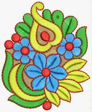 kleurvolle draad borduurwerk quilt