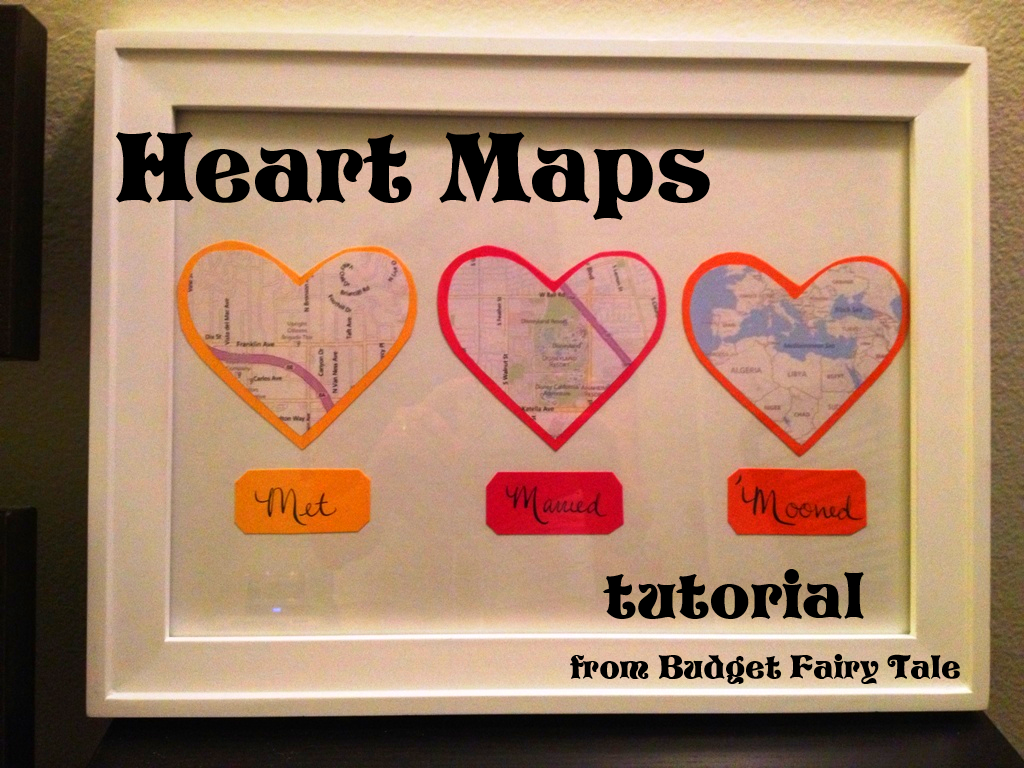 First Anniversary Gift - Map Hearts Display Tutorial (and Other Paper ...