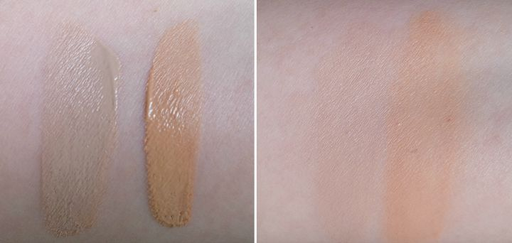 UNT Color Skincare Mineraluxe BB Cream BB05 Fair BB10 Natural Swatch Swatches