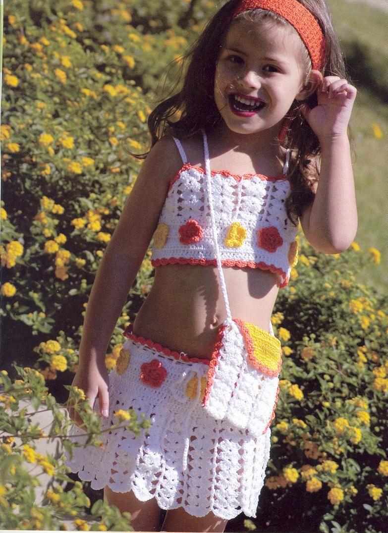 conjunto para niñas en crochet