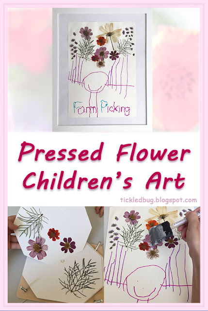 Tickled by the Creative Bug - Pressed Flower Children's Art