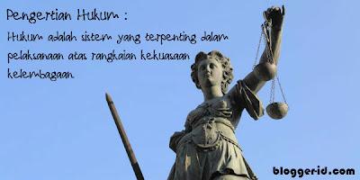 Pengertian Hukum