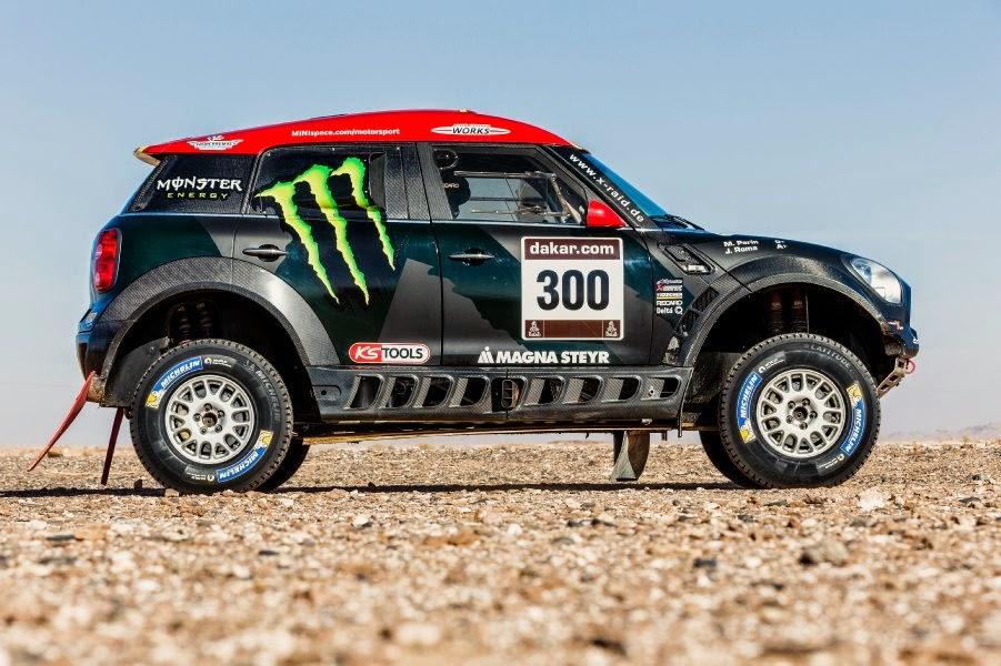 Mini ALL4 Racing 2015 (#300 Roma - Périn) Side