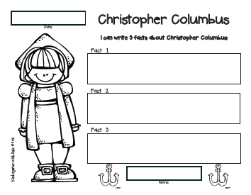 Kindergarten with Susie: Christopher Columbus