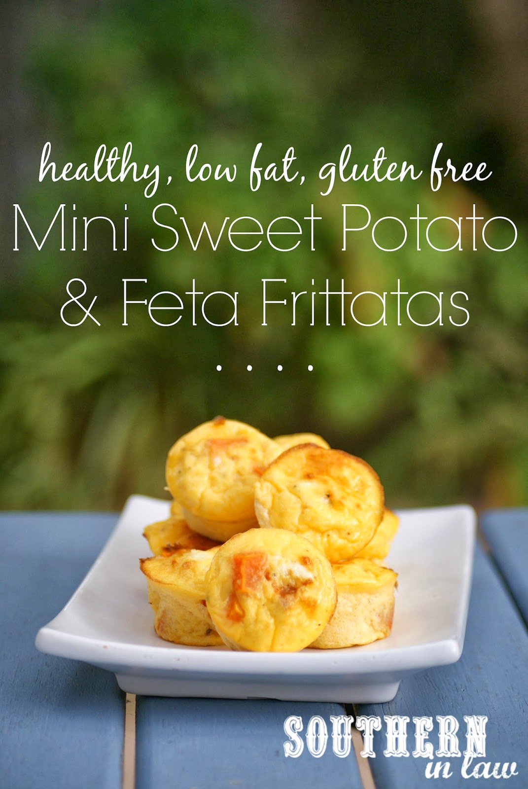 Mini Sweet Potato and Feta Frittatas - Healthy, low fat, gluten free, low carb, paleo, clean eating friendly