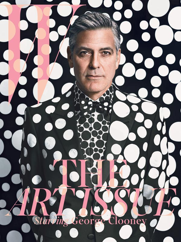george clooney for w magazine december 2013
