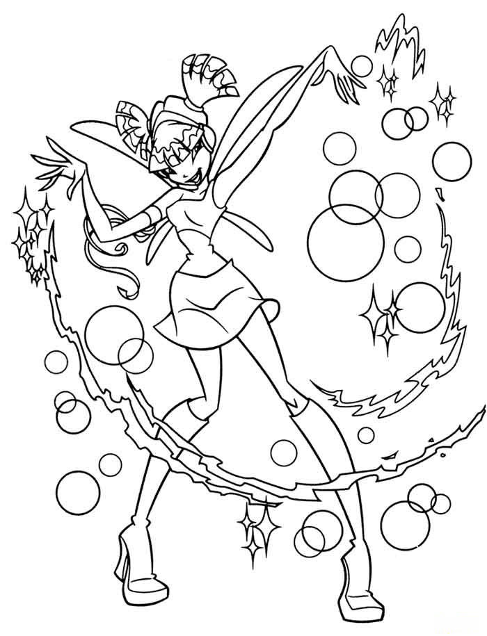 Kids Under 7 Winx Club Coloring Pages