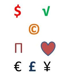 image of currency symbols