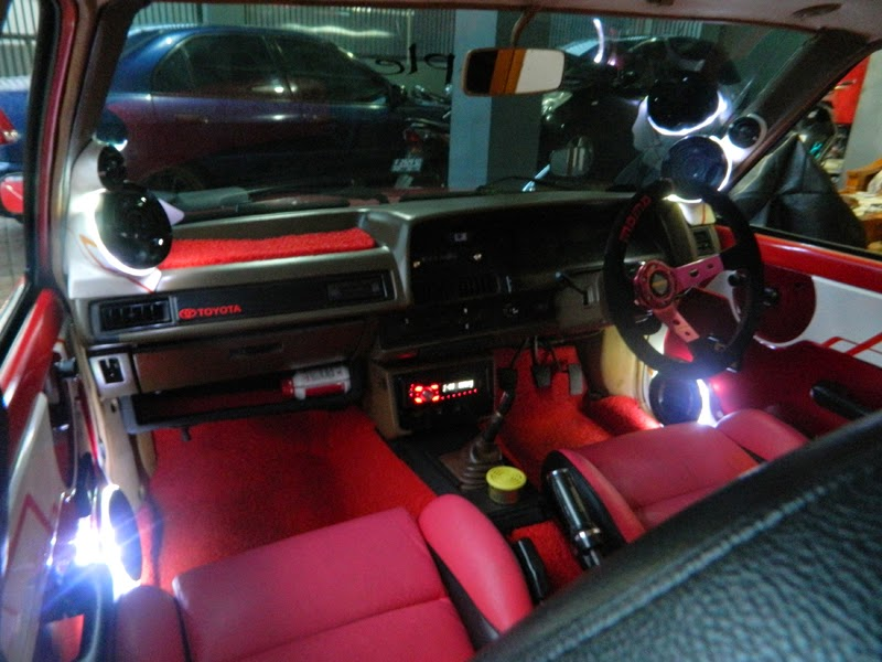 modifikasi interior corolla dx