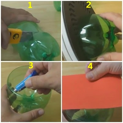 Tahah Daur Ulang Botol Menjadi Mainan