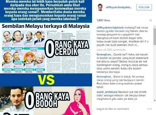 Dilabel Orang Kaya Bodoh, Datuk Aliff Syukri Terlajak Laris Mengamuk!